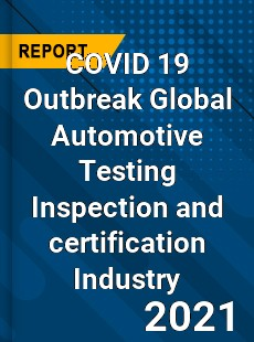 COVID 19 Outbreak Global Automotive Testing Inspection and certification Industry