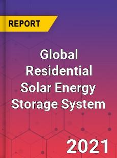 Global Residential Solar Energy Storage System Market